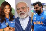Mithali Raj, Narendra Modi and Rohit Sharma