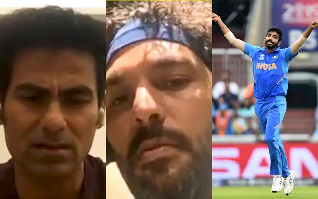 Mohammad Kaif, Yuvraj Singh and Jasprit Bumrah
