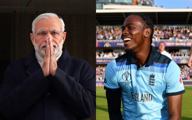 Narendra Modi and Jofra Archer