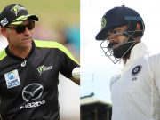 Paddy Upton and Virat Kohli