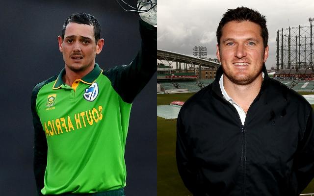 Quinton de Kock and Graeme Smith