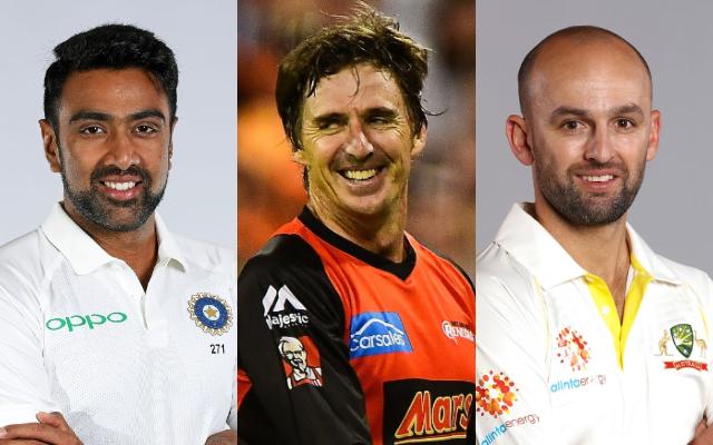 Ravi Ashwin, Brad Hogg and Nathan Lyon