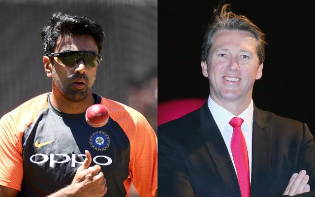 Ravi Ashwin and Glenn Mcgrath