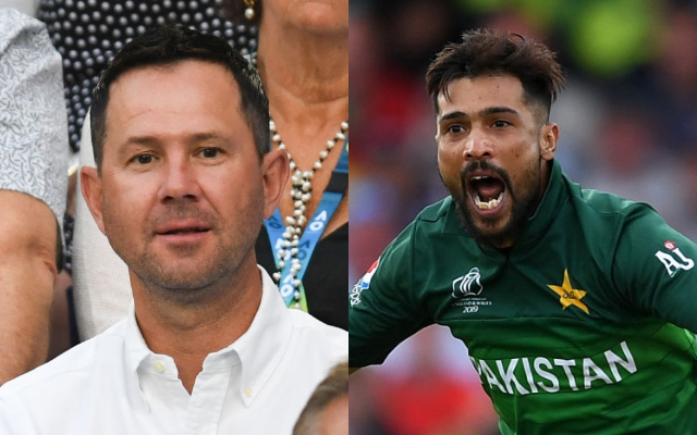 Ricky Ponting and Mohammad Amir