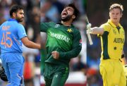 Rohit Sharma, Shadab Khan and Steve Smith