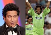 Sachin Tendulkar and Imran Khan