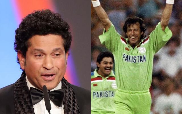 Sachin Tendulkar and Imran Khan