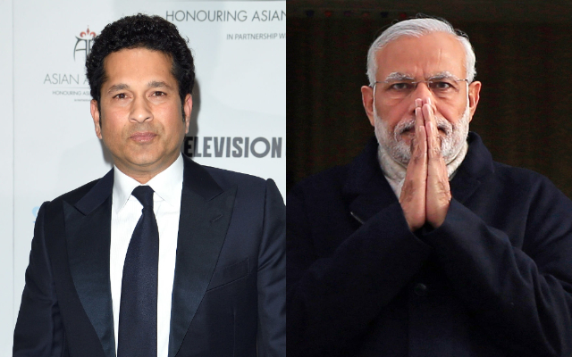 Sachin Tendulkar and Narendra Modi