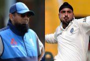 Saqlain Mushtaq and Harbhajan Singh