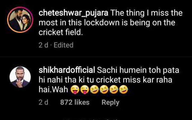 Shikhar Dhawan's comment