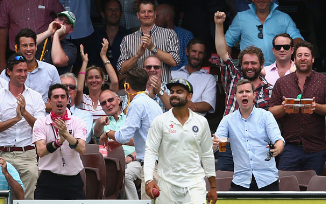 Virat Kohli and Australian crowd