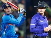 Virender Sehwag and Simon Taufel