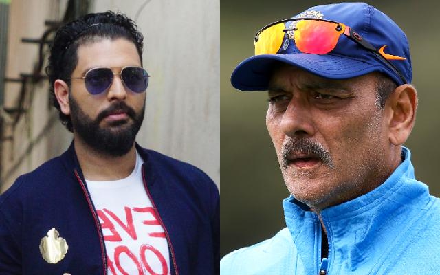Yuvraj Singh and Ravi Shastri