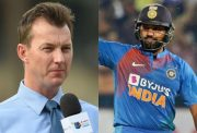 Brett Lee and Rohit Sharma