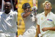 Brian Lara, Sachin Tendulkar and Shane Warne