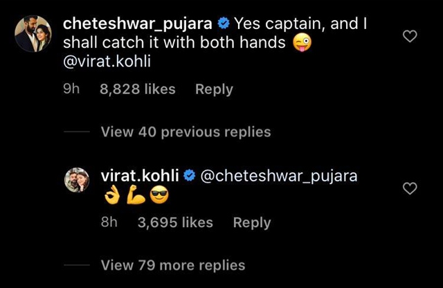 Cheteshwar Pujara's comment