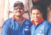 Chiranjeevi and Sachin Tendulkar