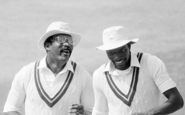 Clive Lloyd and Roger Harper