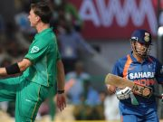 Dale Steyn and Sachin Tendulkar