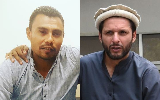 Danish Kaneria and Shahid Afridi