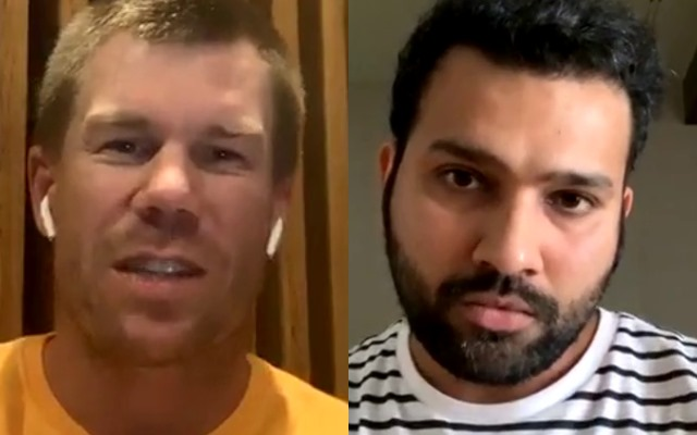 David Warner and Rohit Sharma