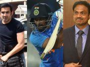 Gautam Gambhir, Ambati Rayudu and MSK Prasad