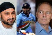 Harbhajan Singh, MS Dhoni and Greg Chappel