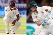 Jofra Archer and Steve Smith