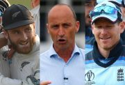 Kane Williamson, Nasser Hussain and Eoin Morgan