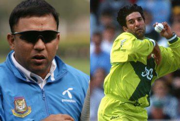 Khaled Mahmud and Wasim Akram