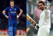 Luke Wright and Sachin Tendulkar