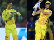 MS Dhoni and Mitchell Santner