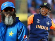Mushtaq Ahmed and MS Dhoni