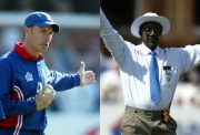 Nasser Hussain and Steve Bucknor