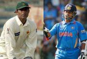 Rashid Latif and Sachin Tendulkar