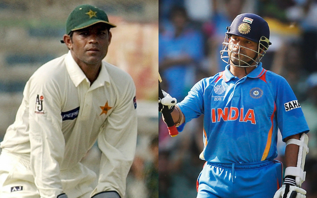Rashid Latif and Sachin Tendulkar
