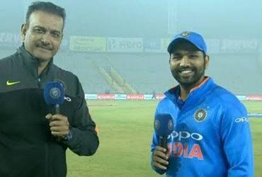 Ravi Shastri and Rohit Sharma