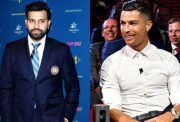 Rohit Sharma and Cristiano Ronaldo