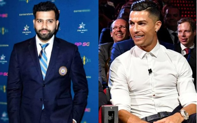 Rohit Sharma and Cristiano Ronaldo