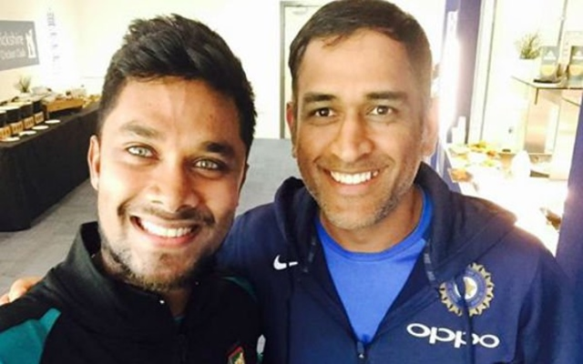 Sabbir Rahman and MS Dhoni