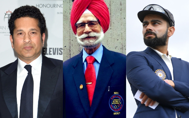 Sachin Tendulkar, Balbir Singh Sr and Virat Kohli