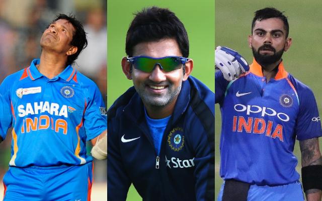 Sachin Tendulkar, Gautam Gambhir and Virat Kohli