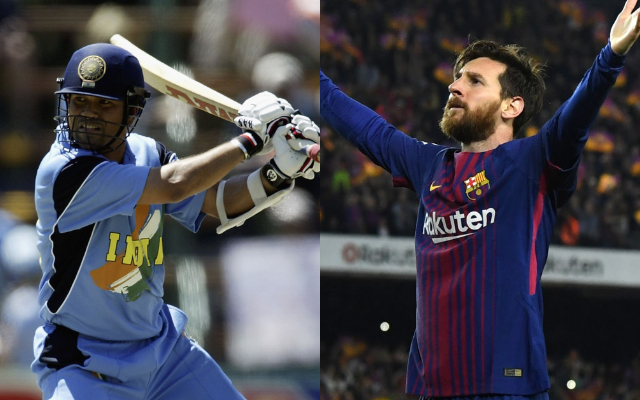 Sachin Tendulkar and Lionel Messi
