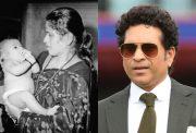 Sachin Tendulkar and his mother