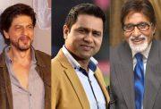 Shah Rukh Khan, Aakash Chopra and Amitabh Bachchan