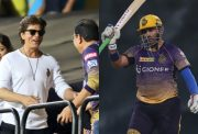 Shah Rukh Khan and Robin Uthappa