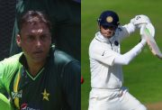 Shoaib Akhtar and Rahul Dravid