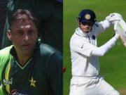 Shoaib Akhtar and Rahul Dravid
