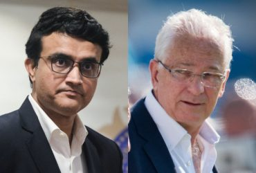 Sourav Ganguly and David Gower