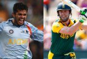Sreesanth and AB de Villiers